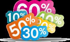 «Возрастающие скидки 20%, 30%, 40%, 50%, 60% для наших постоянных клиентов»
